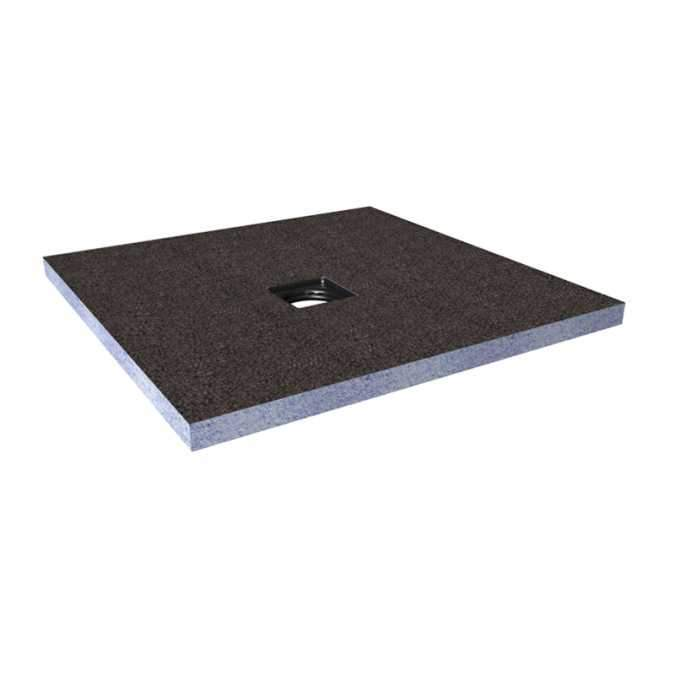 Abacus Direct Tileable Square Shower Tray 1500 x 1500mm Centre Drain