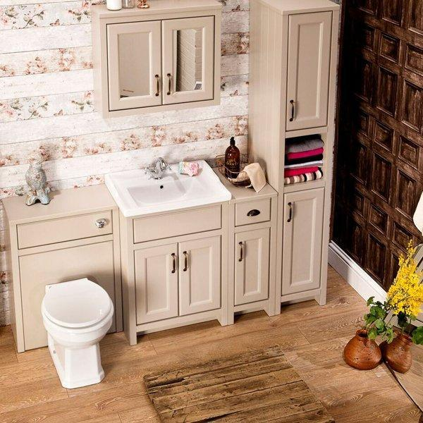 Cassellie Chartwell 2-Doors Vanity Unit with Basin - 610mm Wide - Mocha