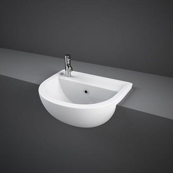 RAK Compact Semi-Recessed Basin 400mm Wide 1 LH Tap Hole