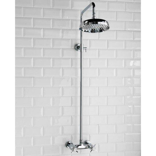CLEARANCE Cassellie Buxton Traditional Thermostatic Complete Mixer Shower - Chrome