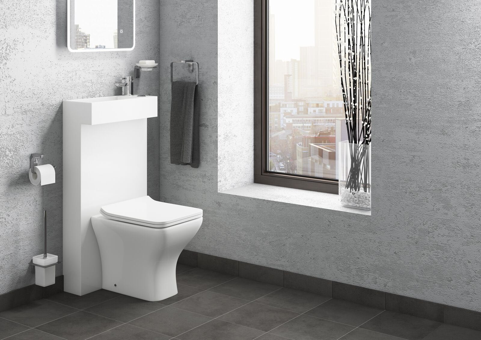 Cassellie All in one Basin and Shroud Combination Pack with Back to ...
