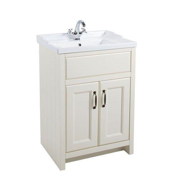 Cassellie Chartwell 2-Doors Vanity Unit with Basin - 570mm Wide - Vanilla