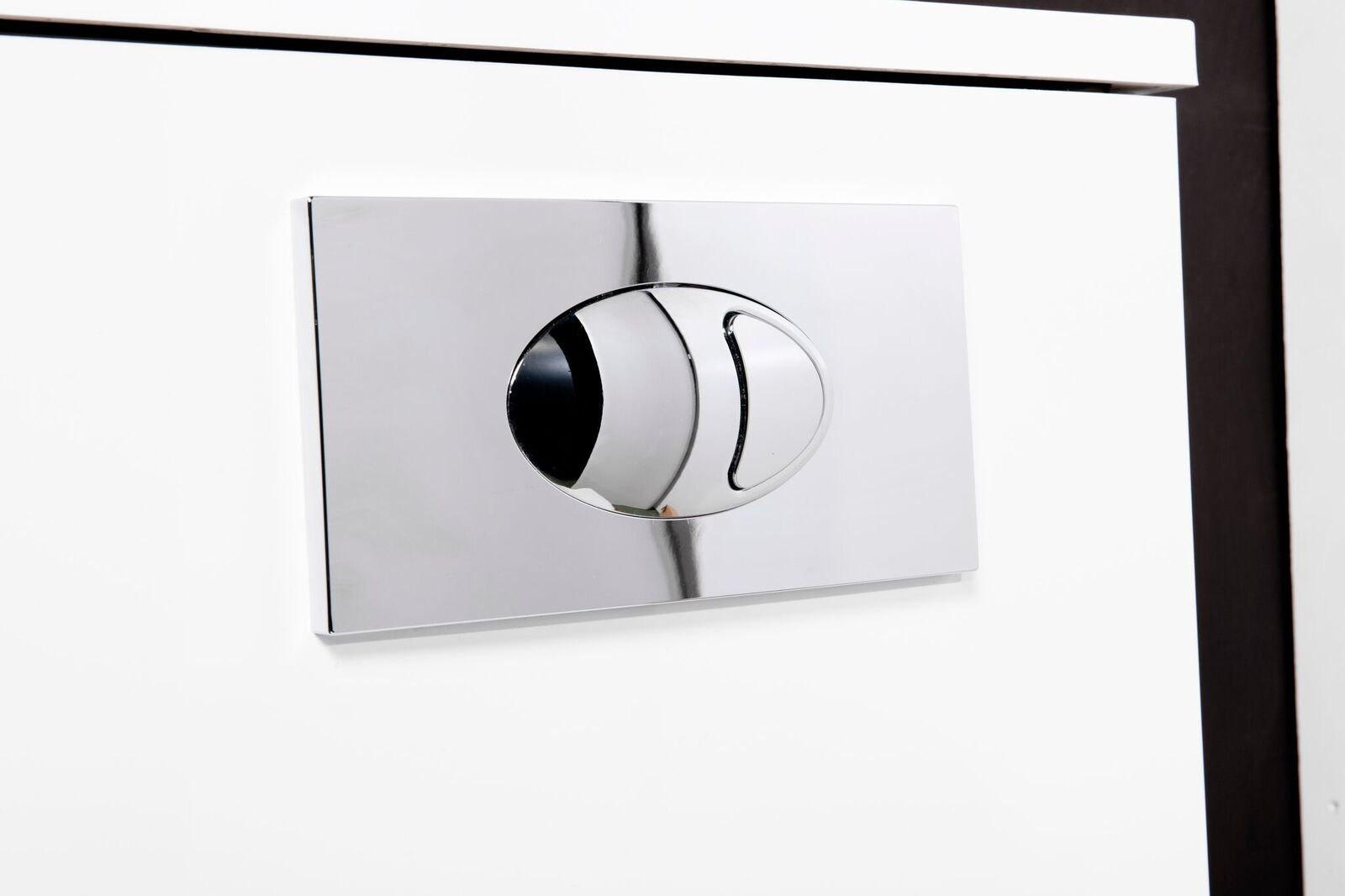 Cassellie Large Push Button Flush Plate - Chrome