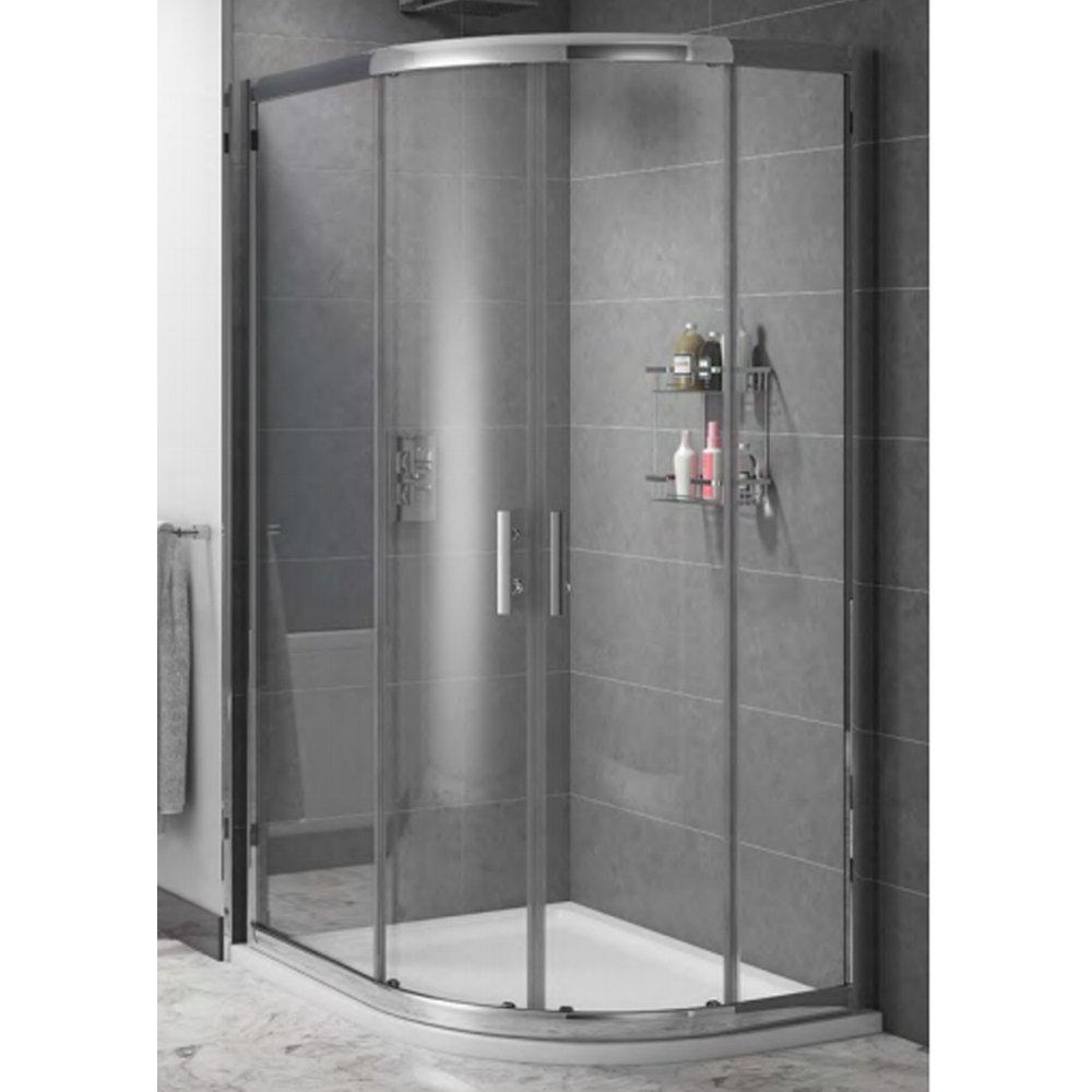 Cassellie Cass Six Offset Quadrant Shower Enclosure 1000mm x 800mm - 6mm Glass