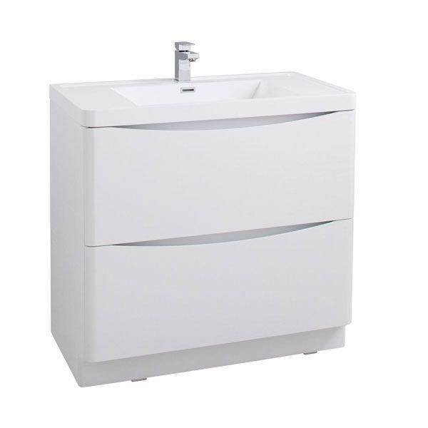 Cassellie Bali 2-Drawers Vanity Unit with Basin - 900mm Wide - White Ash