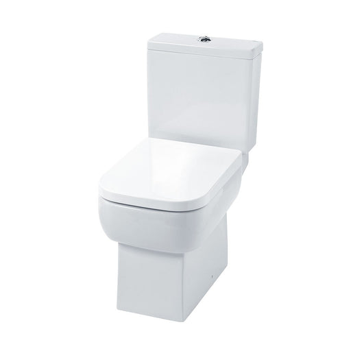 Essential ORCHID Close Coupled Pan + Cistern + Seat Pack, Soft Close Seat, White