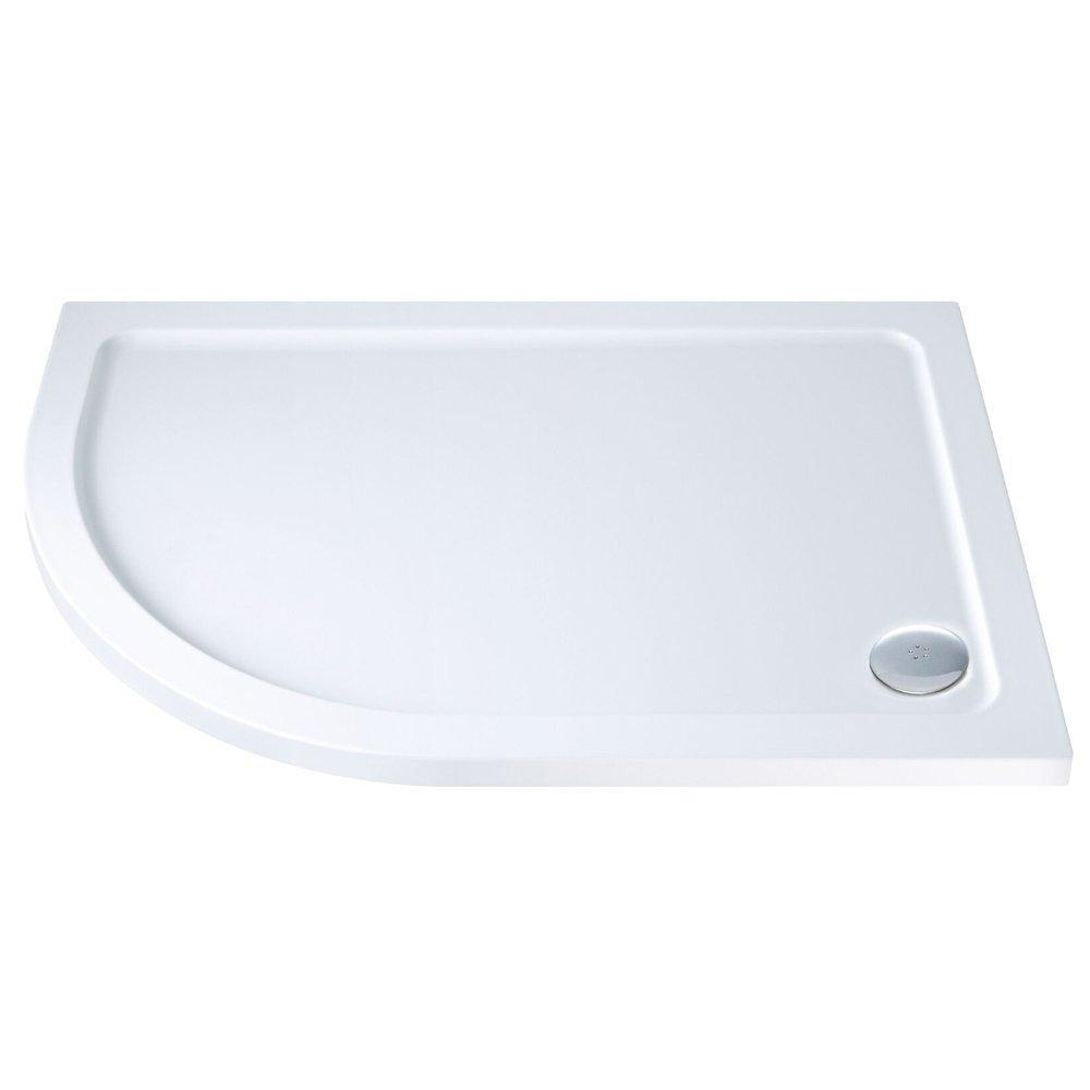 Cassellie C-Series Offset Quadrant Shower Tray with Waste Left Handed 1000mm x 800mm - Stone Resin