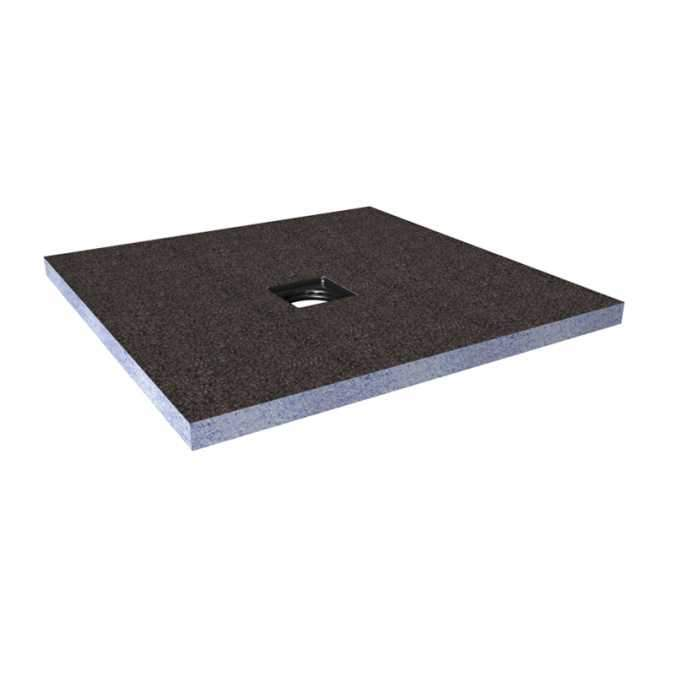 Abacus Direct Tileable Square Shower Tray 1200 x 1200mm Centre Drain