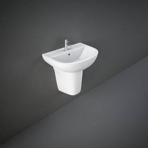 RAK Compact Basin & Semi Pedestal 450mm Wide 2 Tap Hole