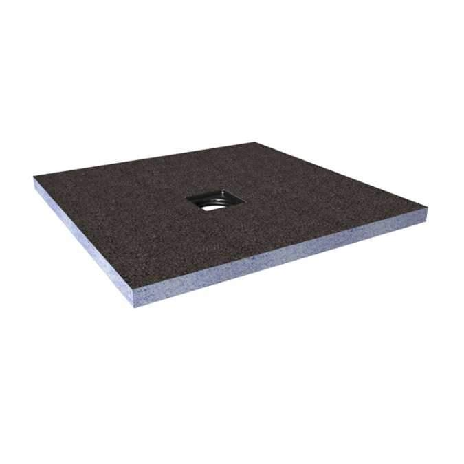 Abacus Direct Tileable Square Shower Tray 900 x 900mm Centre Drain