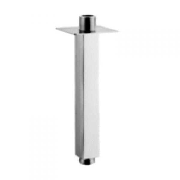 Fixed Square Chrome Ceiling Arm 200mm