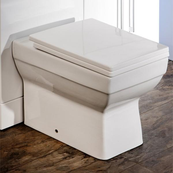 Cassellie Dice Square Back to Wall Toilet - Soft Close Seat - White