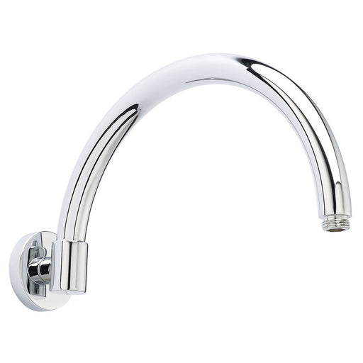 CLEARANCE Hudson Reed Curved Wall Mounted Shower Arm, 310mm Projection, Chrome