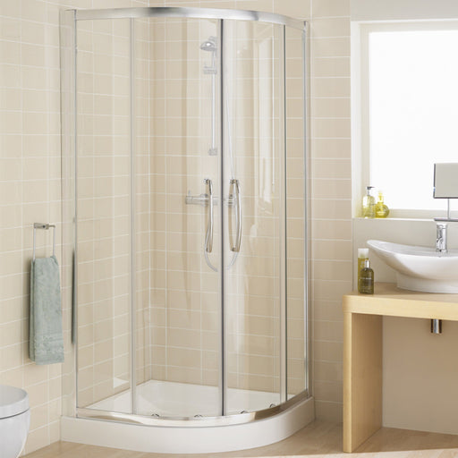 Lakes Classic Double Door Quadrant Shower Enclosure - 900mm - Silver - Clear Glass