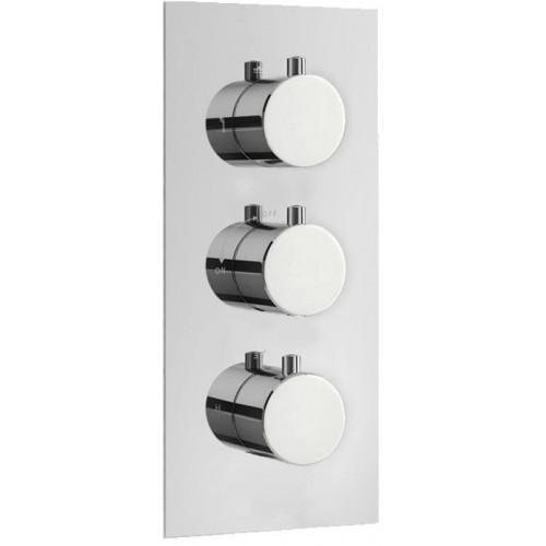 Abacus Emotion Round Thermo Shower Mixer (3 Outlet)