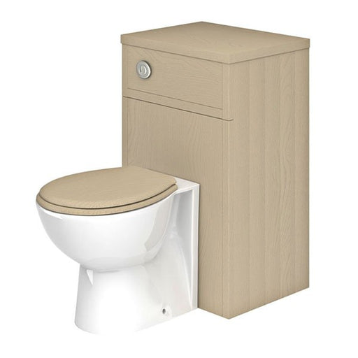 Essential HAMPSHIRE WC Unit, 500mm Wide x 390mm Deep, Stone Grey