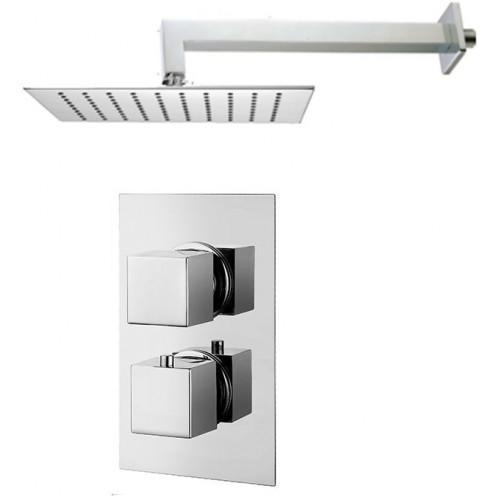 Abacus Emotion Thermostatic Square Shower & Square Overhead