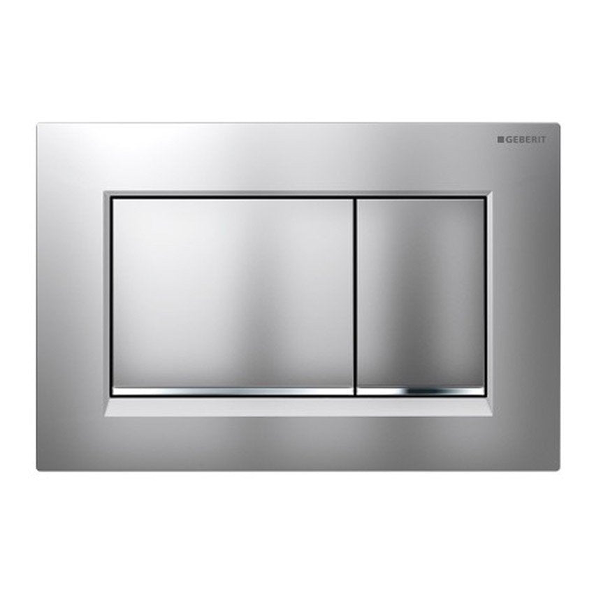 Geberit Sigma30 Dual Flush Plate Matt/Gloss/Matt Chrome