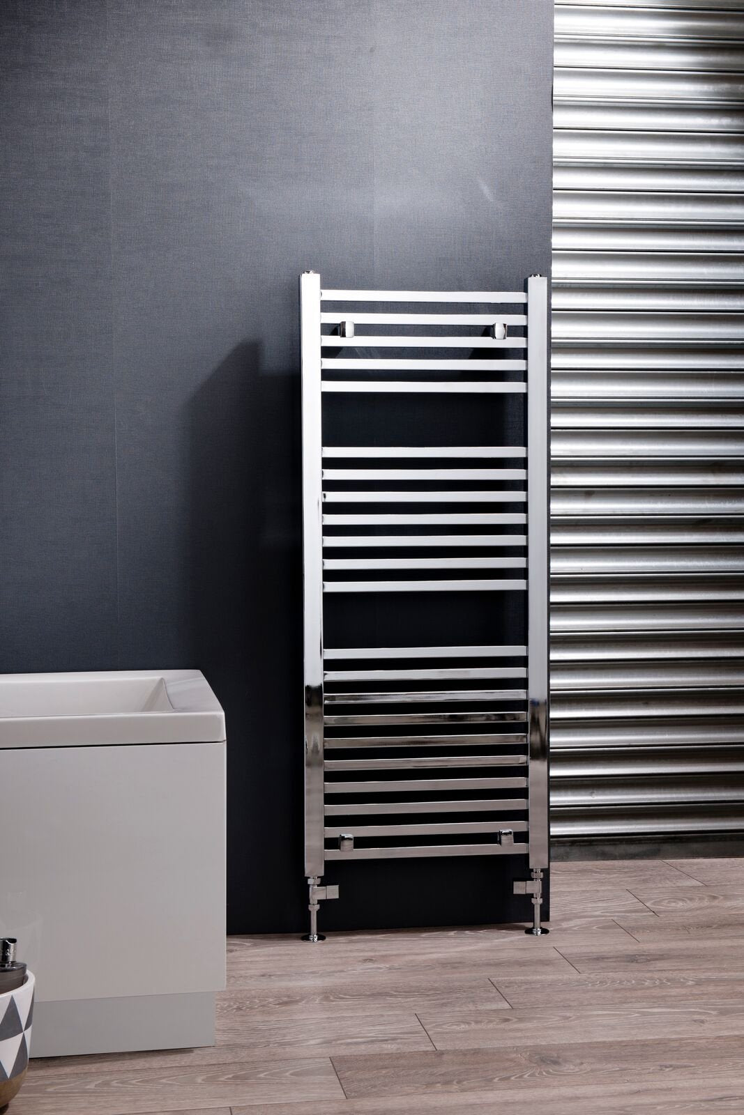 Cassellie Talon Designer Heated Towel Rail - 1200mm x 500mm - Chrome