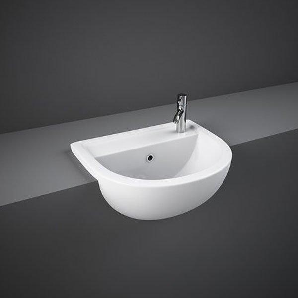 RAK Compact Semi-Recessed Basin 400mm Wide 1 RH Tap Hole