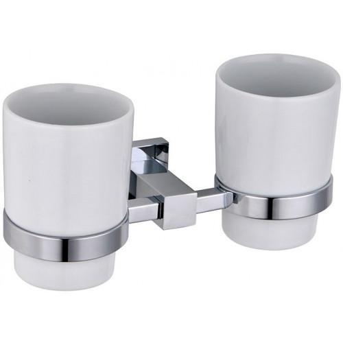 Abacus Line Double Tumbler Holder & Cups