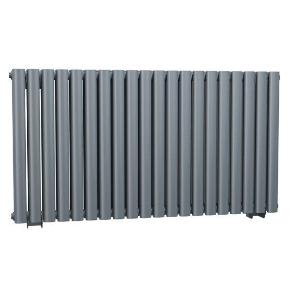 Cassellie Celsius Double Panel Designer Horizontal Radiator - 633mm High x 1180mm Wide - Anthracite