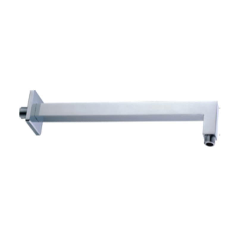 Fixed Square Chrome Wall Arm 370mm
