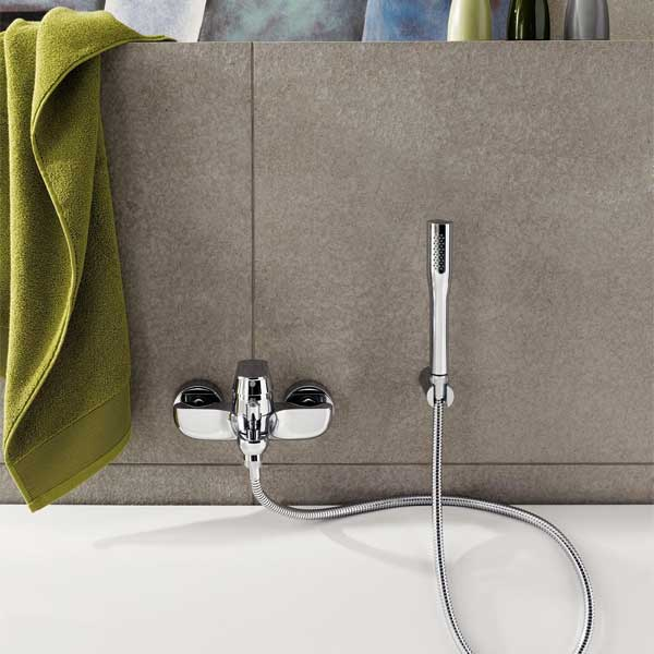 Grohe Eurosmart Cosmo Bath Shower Mixer Tap with Kit Wall Mounted
