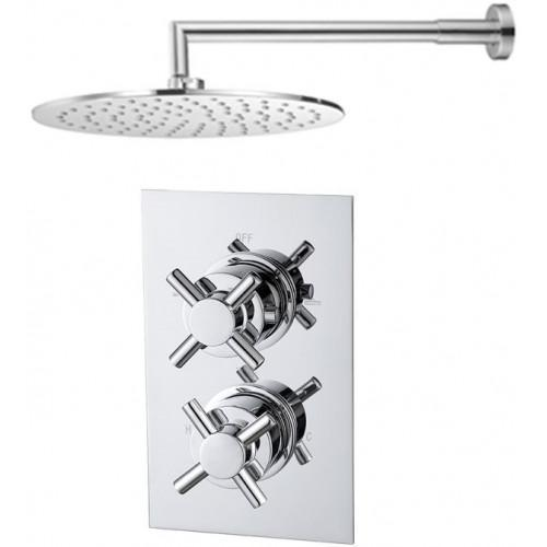 Abacus Emotion Thermostatic Cross Shower & Round Overhead