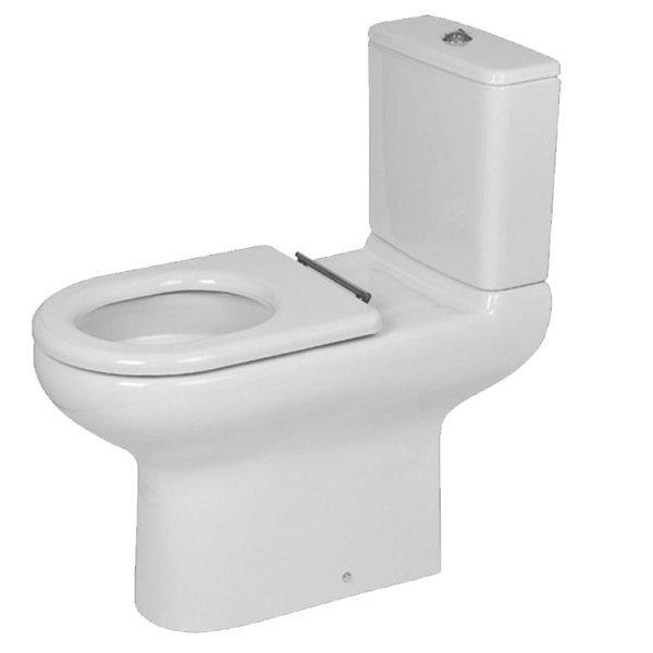 RAK Compact Special Needs Close Coupled Toilet with Push Button Cistern - Ring Seat