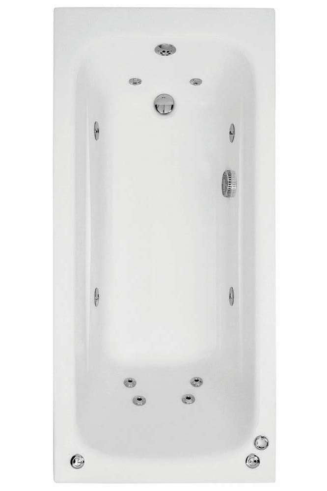 Phoenix Crystal Single Ended Whirlpool Bath 1500 x 700mm System 1- BH062S1
