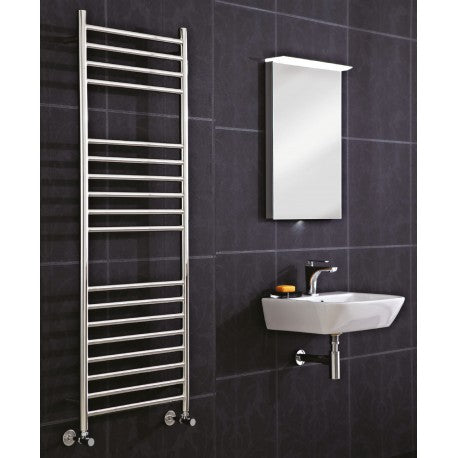 CLEARANCE Phoenix Athena Stainless Steel Straight Towel Rail 1400mm High x 600mm Wide