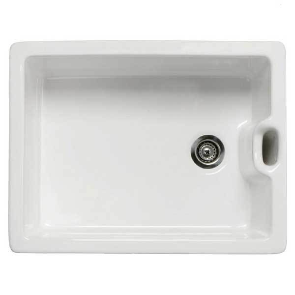 RAK Gourmet 8 Ceramic Belfast Kitchen Sink 1.0 Bowl with Weir Overflow - White