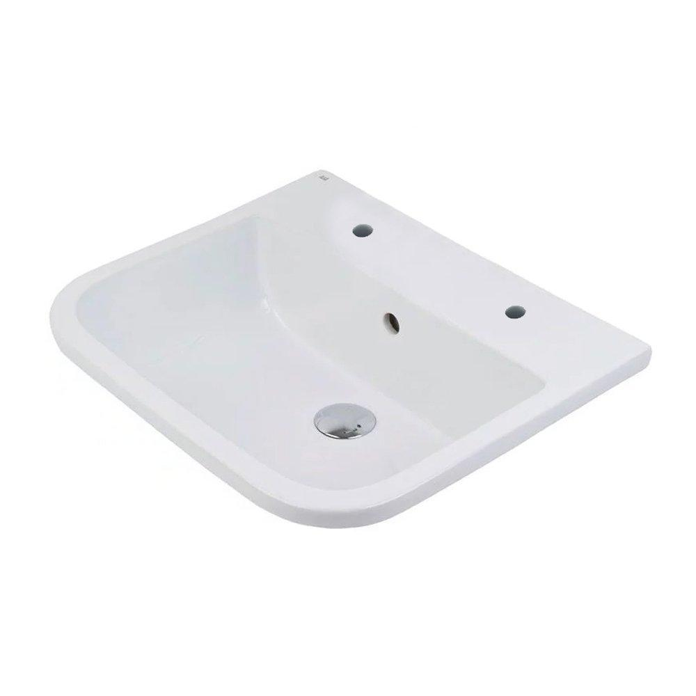 RAK Series 600 Inset Vanity Basin 500mm Wide 2 Tap Hole