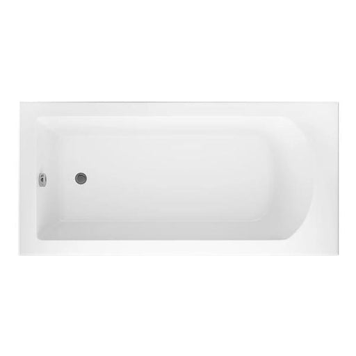 Cassellie Uno Square Style Single Ended Bath - 1700mm x 750mm - White