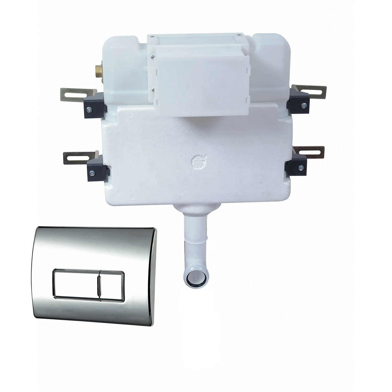 Phoenix Luxury Concealed Cistern With Pneumatic Square Flush Plate