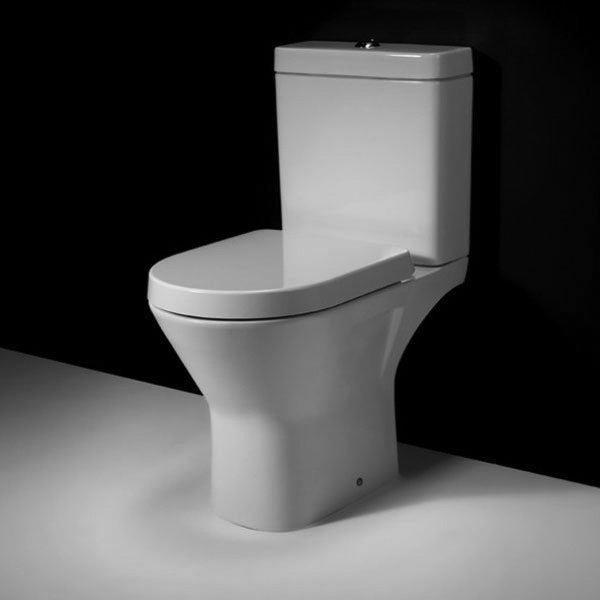 RAK Resort Mini Close Coupled Full Access Rimless Toilet WC Pack - Soft Close Seat