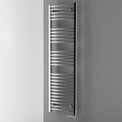 Essential ELECTRIC ONLY Towel Warmer, Straight Tubes, 840mm High x 500mm Wide, Chrome