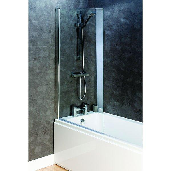 Cassellie Square Bath Screen 1400mm High x 800mm Wide - 6mm Glass