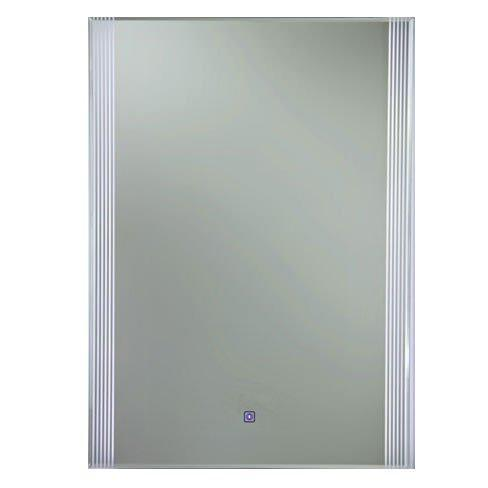 RAK Reflections 5 Gloss White Framed Mirror LED Switch and Demister 700mm H x 500mm W Illuminated