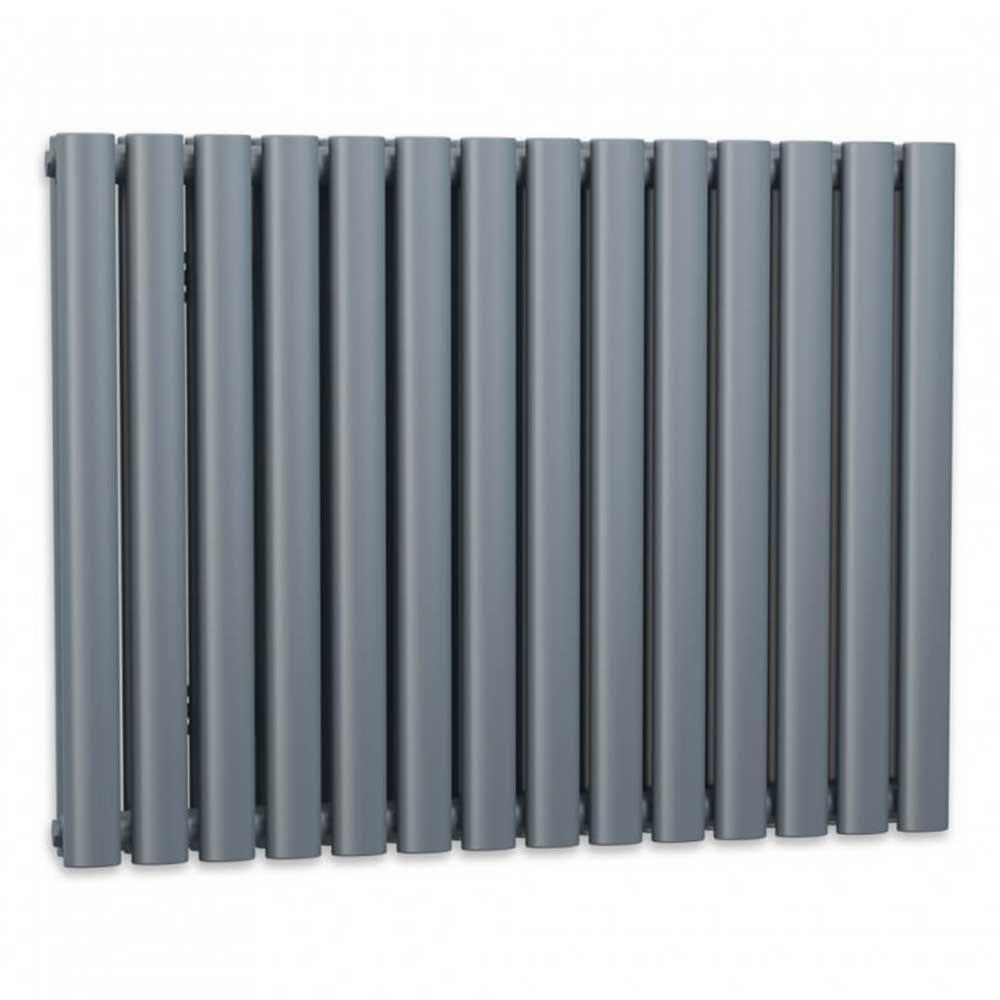 Cassellie Celsius Double Panel Designer Horizontal Radiator - 633mm High x 826mm Wide - Anthracite