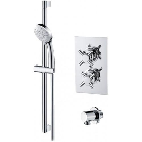 Abacus Emotion Thermostatic Cross Shower & Riser Rail Kit