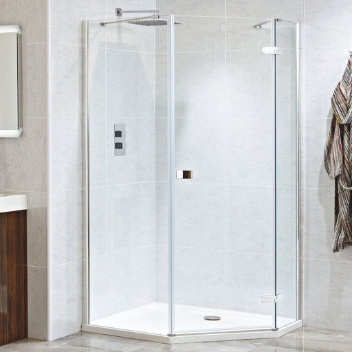 CLEARANCE Phoenix Idyllic Frameless Neo Angled Hinged Door 1200x900mm Right-Handed