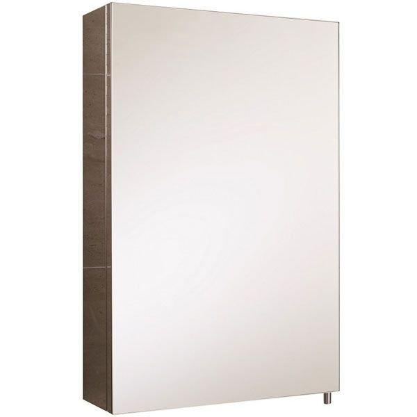 RAK Cube Mirrored Bathroom Cabinet - 600mm x 400mm - Stainless Steel