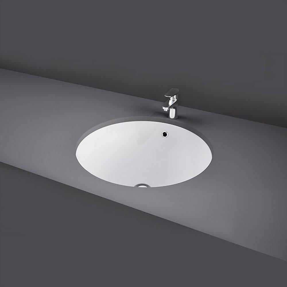 RAK Emma Inset Countertop Basin 400mm Wide - 0 Tap Hole
