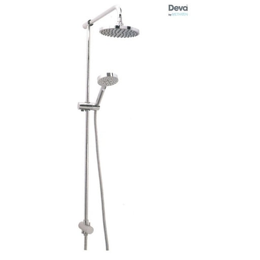 Deva KITS09 Chrome Minimalist Rigid Riser Kit and Handset