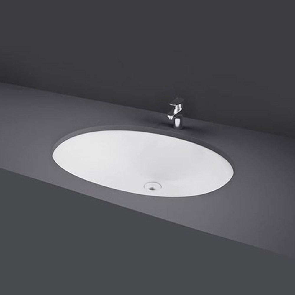 RAK Rosa Inset Undermounted Countertop Basin 570mm Wide - 0 Tap Hole