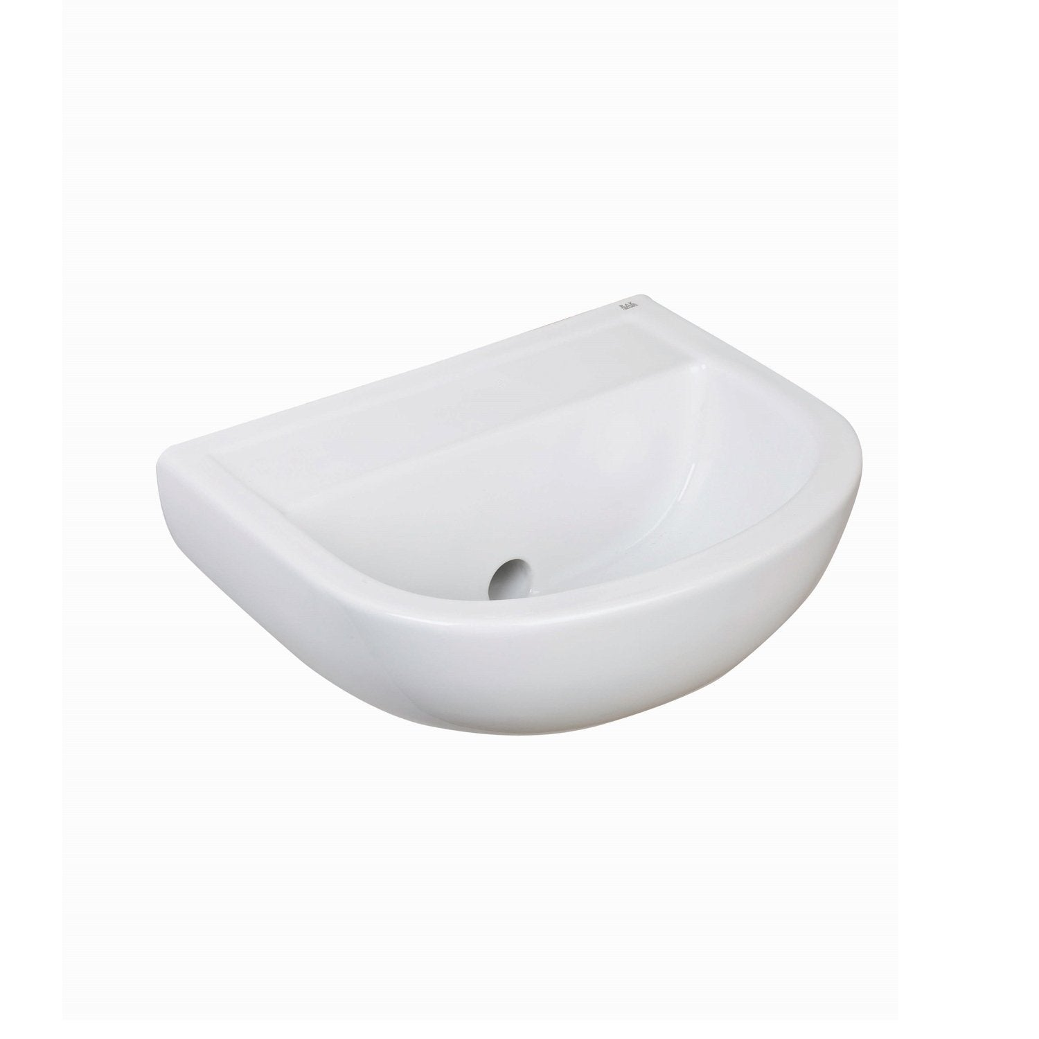 RAK Compact Special Needs HO Cloakroom Basin 380mm Wide - 0 Tap Hole