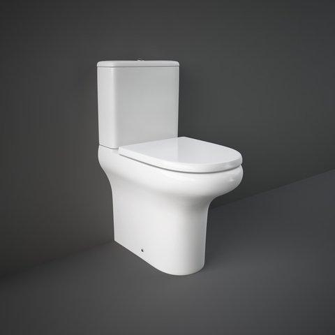 RAK - Compact Deluxe Fully Back to Wall Rimless WC with Soft Close Seat