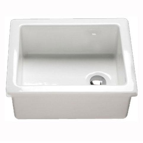 RAK Laboratory Ceramic Belfast Kitchen Sink 1.0 Bowl - White